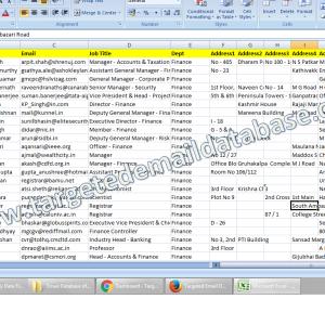 Email Database of CFOs & Finanace Heads