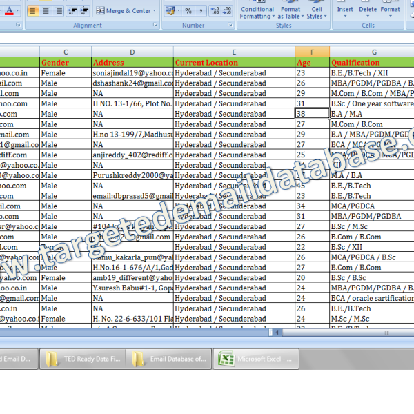 Email Database of Job Seekers