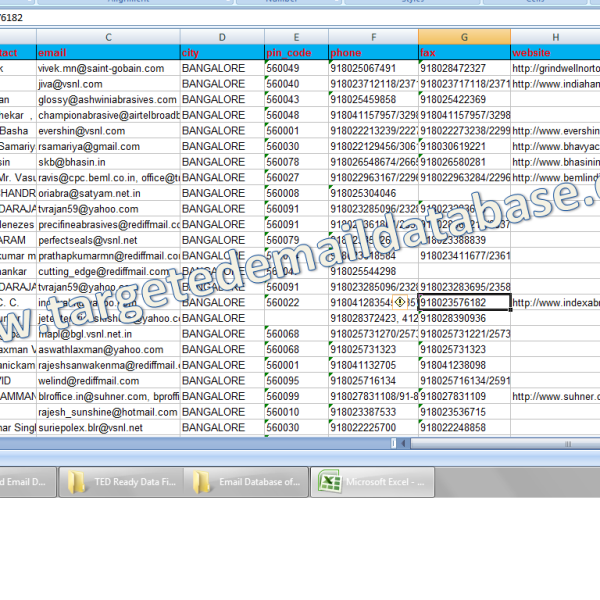Email Database of Industries & SMEs