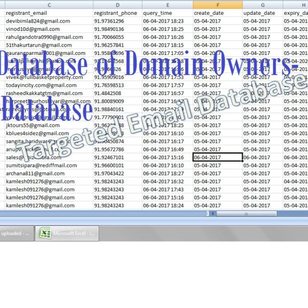 Email Database of DomainOwners